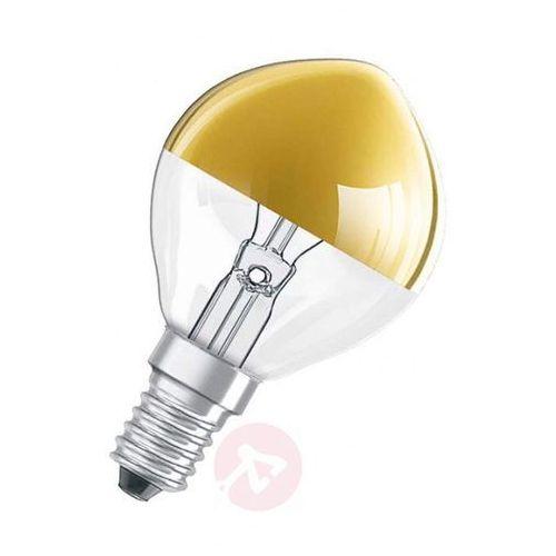 Żarówka lustrzana złota e14 40 w, ciepła biel marki Osram