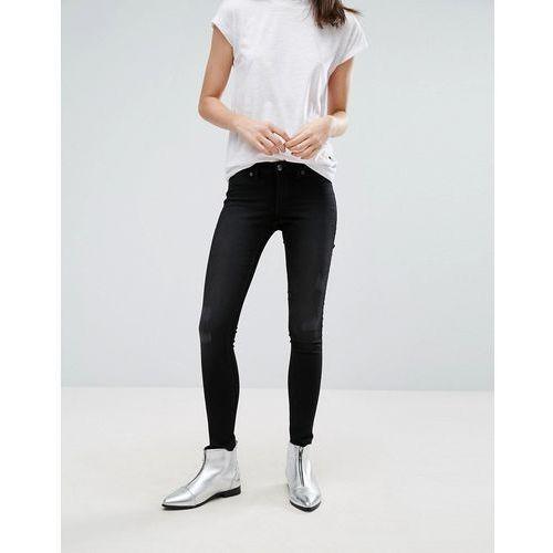 mid spray laddered skinny jeans - black wyprodukowany przez Cheap monday
