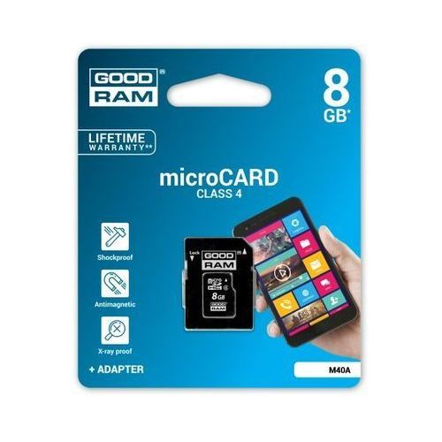 Karta Pamięci Goodram 8GB CL4 + adapter, 64BF-95655