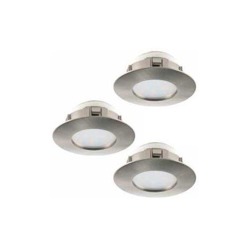 Oczko led oprawa do wbudowania Eglo Pineda 3x6W LED nikiel mat 95823