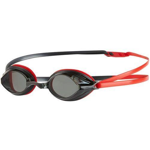 speedo Vengeance Okulary pływackie szary/czerwony 2018 Okulary do pływania (5053744337722)