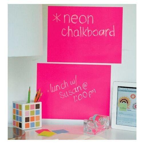naklejki tablica kredowa neon róż marki Wallies