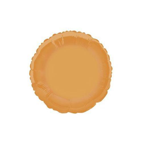 Unique Balon foliowy okrągły pomarańczowy - 46 cm - 1 szt. (0011179533701)