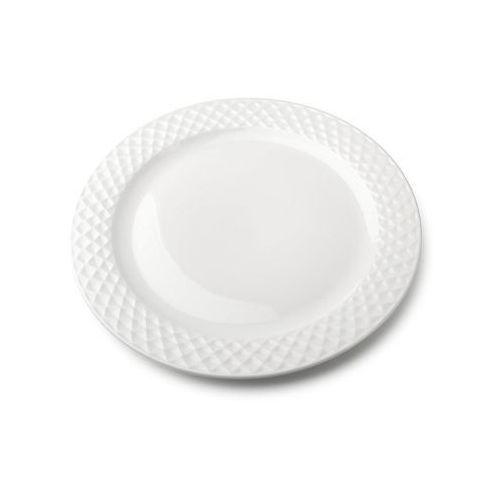 Mondex Talerz płytki obiadowy porcelanowy diament biały