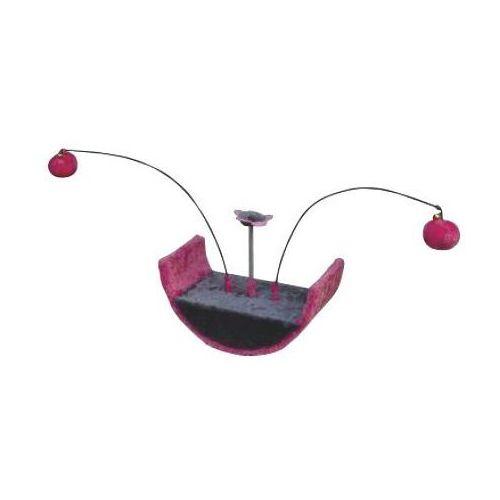 drapak dla kota mini-półkole z wędkami fuksja marki Yarro
