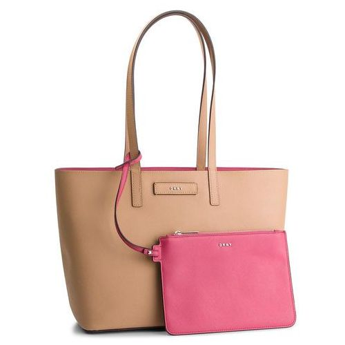 Torebka DKNY - Brayden Md Rvrsbl Tote R83AZ757 Latte/Pink LAW, kolor różowy