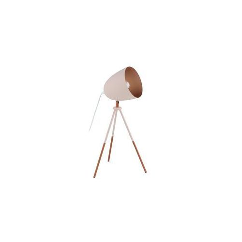 Lampka stołowa Eglo Chester-P 49038 1x60W E27 pastelowa morela/miedź, 49038