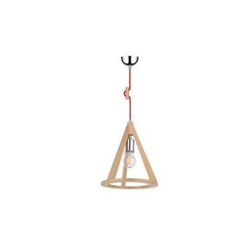 Lampa wisząca zwis oprawa Spot Light Konan 1x60W E27 buk/chrom/czerwony 1071631, kolor buk/chrom/czerwony