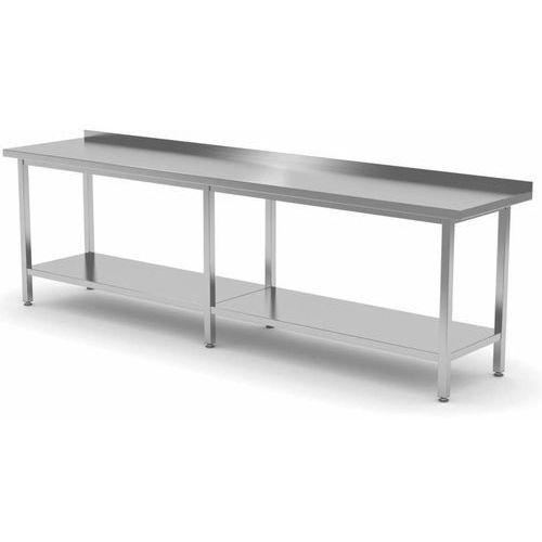 Polgast Stół przyścienny z półką   szer: 2000-2800mm gł. 600 mm