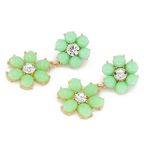 KOLCZYKI FLOWER CANDY GREEN - GREEN, kolor zielony