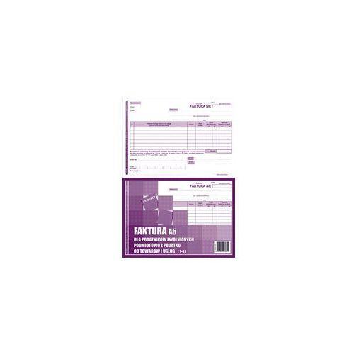 Druk Faktura dla podatników zwol z VAT FZw A5 1+1