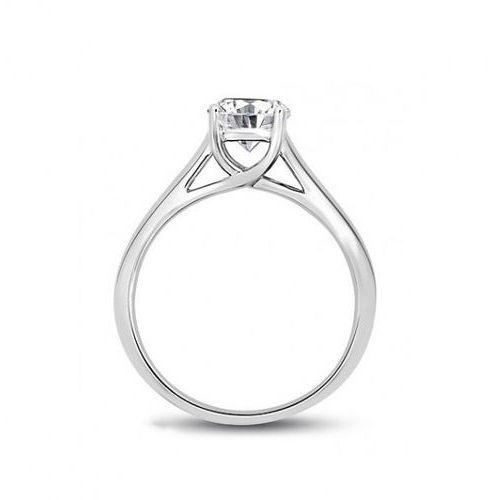 Złoty pierścionek PBD4693 - Diament, kolor żółty