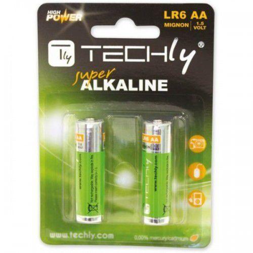 Techly Baterie alkaliczne 1.5V AA LR6, 2 sztuki (306967) Darmowy odbiór w 21 miastach!, 306967