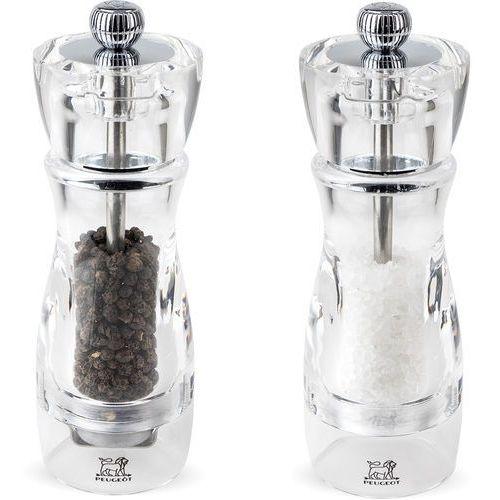 Peugeot Zestaw młynków do soli i pieprzu 16 cm vittel akrylowe (pg-2-18221)