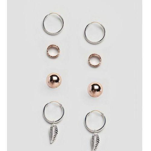 Reclaimed Vintage Inspired Hoop & Stud Earrings In 4 Pack Exclusive To ASOS - Multi