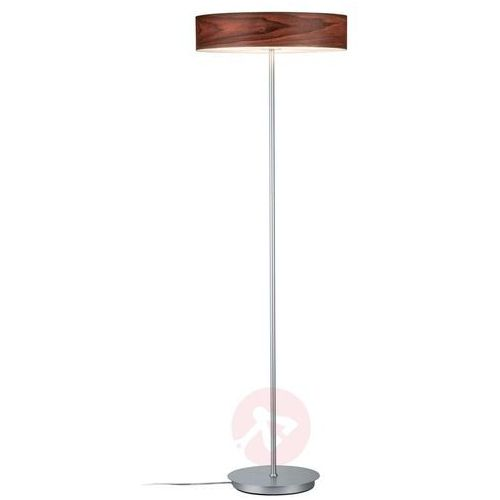 Paulmann Lampa stojąca liska z drewnianym kloszem