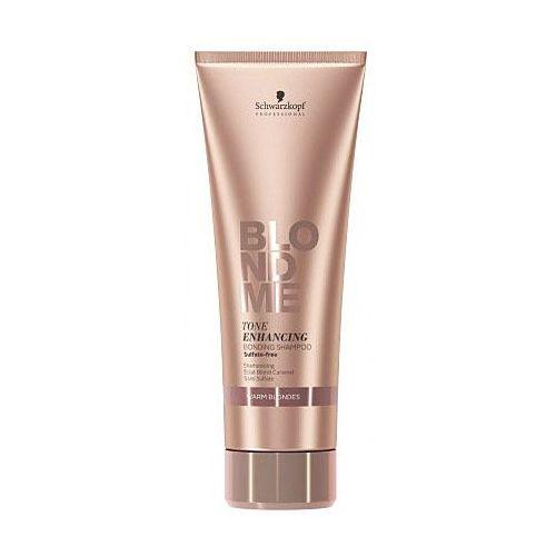 blondme szampon bez sulfatów do ciepłych odcieni blond (tone enhancing bonding shampoo) 250 ml marki Schwarzkopf professional