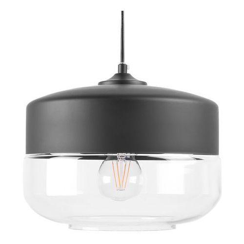 Lampa wisząca ze szkła czarna i przezroczysta MURRAY (4260580929580)