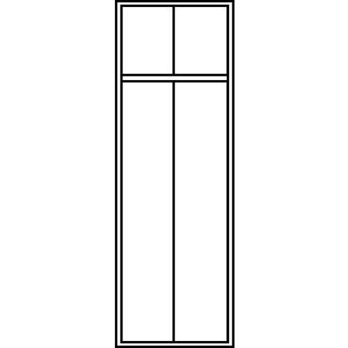 C+p möbelsysteme Szafa szatniowa evolo,z nóżkami z tworzywa, 2 przedziały, szer. przedziału 400 mm