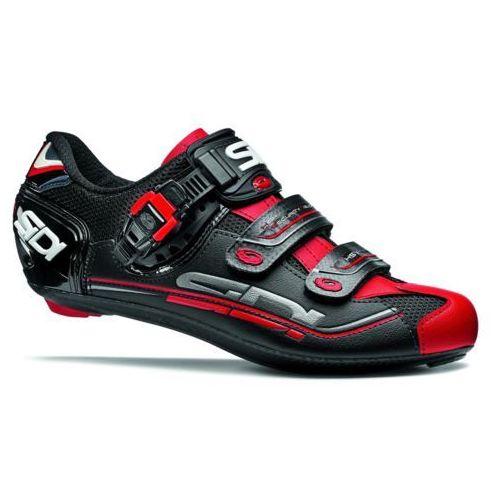 Sidi genius 7 buty mężczyźni czerwony/czarny 44 2018 buty szosowe zatrzaskowe (8017732484949)