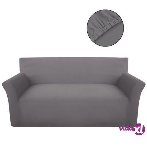 Vidaxl elastyczny pokrowiec na kanapę, z dżerseju, szary (8718475956600)