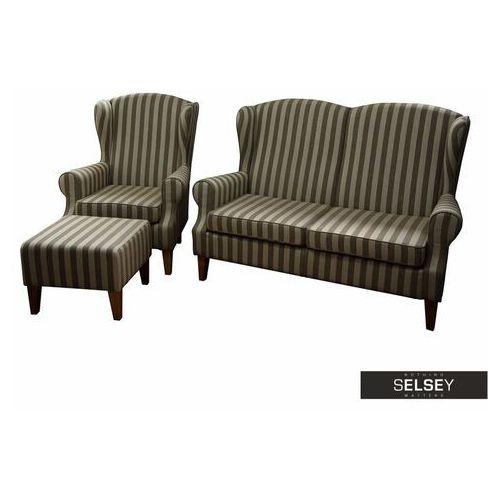SELSEY Komplet wypoczynkowy Medellin sofa i fotel z podnóżkiem (5903025600499)
