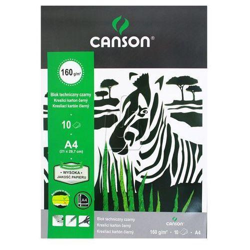 Blok techniczny Canson czarny A4 10 (6666-175) (5904017053187)
