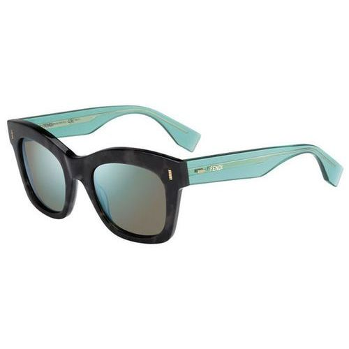 Okulary Słoneczne Fendi FF 0025/S COLOR BLOCK 7OF/3U, kolor żółty