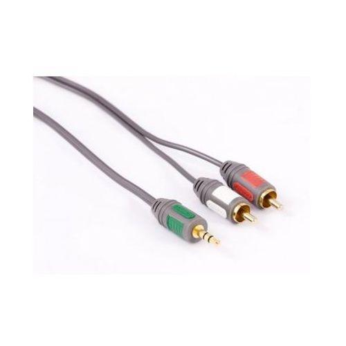 Kabel 2xRCA - Jack 3.5 mm BRIDGE 5 m, BPA345