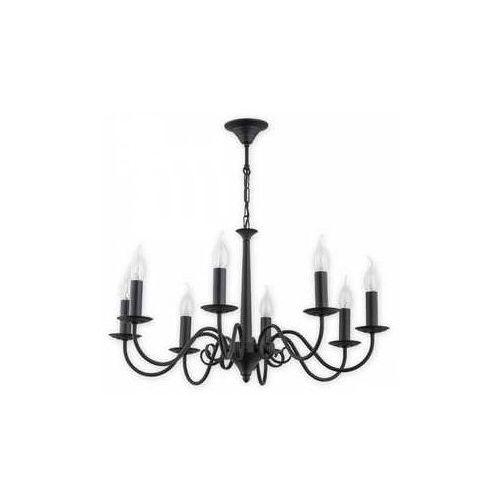 Lemir Asti O2898 W8 Cza lampa wisząca zwis 8X60W E14 czarny matowy