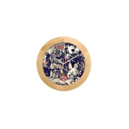Zegar drewniany solid Powstanie Styczniowe