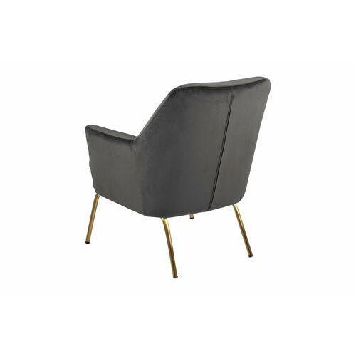 Nowoczesny Fotel Chisa VIC Dark Grey/Gold dla osób ceniących wygodę., kolor szary