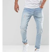 Brooklyn supply co slim jeans light wash with abrasions - blue marki Brooklyn supply co.