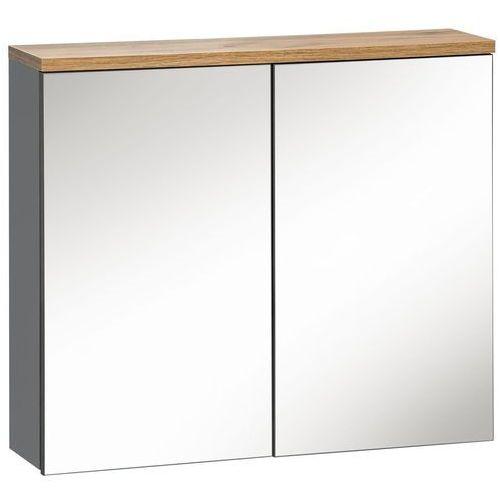 Comad Szafka łazienkowa z lustrem 80 cm bali grafit 841