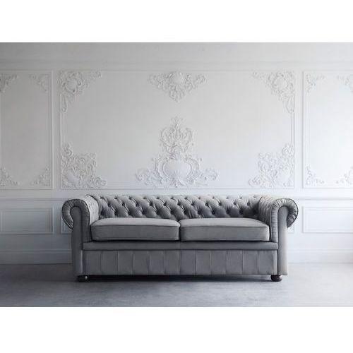 Sofa skórzana szara CHESTERFIELD (7105276528807)