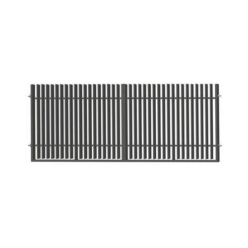 Polbram Brama dwuskrzydłowa negros 400 x 150 cm antracytowa (5903641457576)