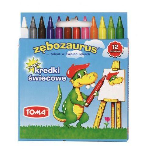 Kredki świecowe 12 kolorów Zębozaurus