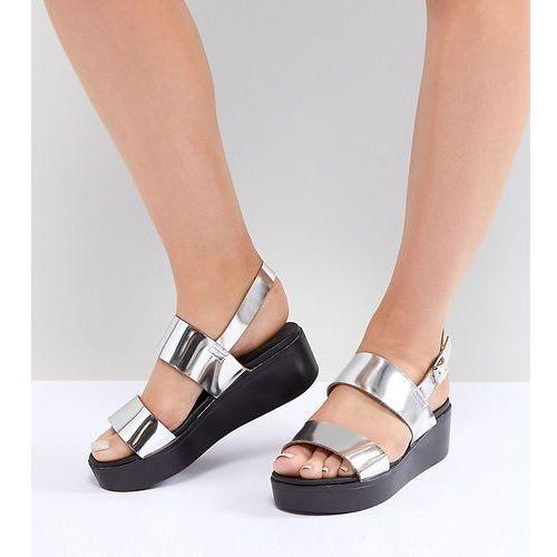 wide fit flatform sandals - silver, Park lane