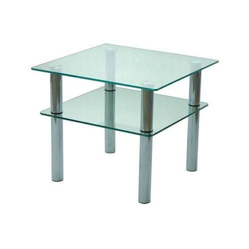 Szkłomal KWADRAT MINI - Stolik szklany, 60x60 cm, wys. 50 cm