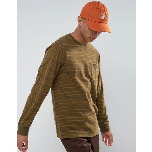 Brixton Longsleeve T-Shirt With Stripes - Green