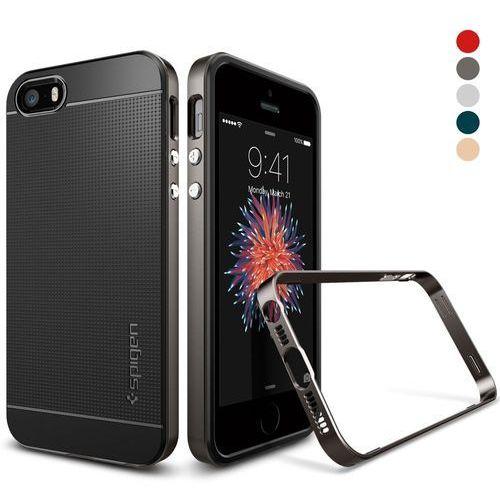 Obudowa spigen neo hybrid carbon apple iphone 5 / 5s / se gunmetal - gunmetal marki Sgp - spigen