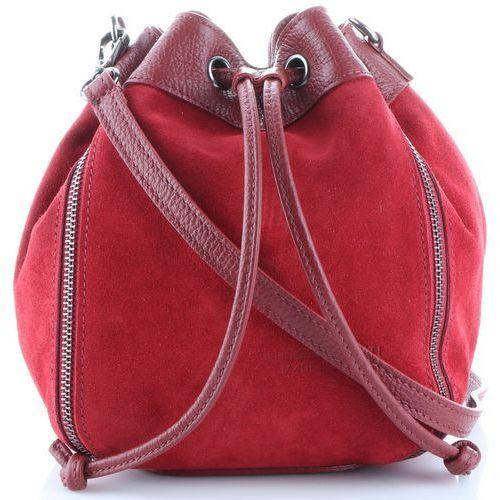 398d3fa4cbbb0 Modne i Uniwersalne Torebki Skórzane Listonoszki wykonane z wysokiej  jakości zamszu naturalnego firmy Vittoria Gotti Czerwone