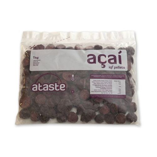 Mrożone Acai IQF od Ataste puree owocowe (miąższ, pulpa) bez cukru