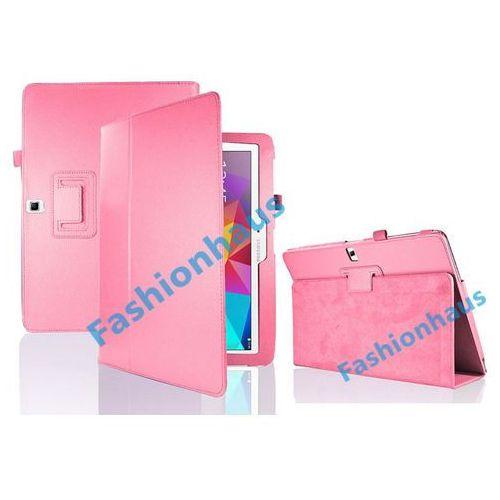 4w1 Etui stojak Samsung Galaxy Tab 4 10.1 + folia + ściereczka + rysik - Różowy