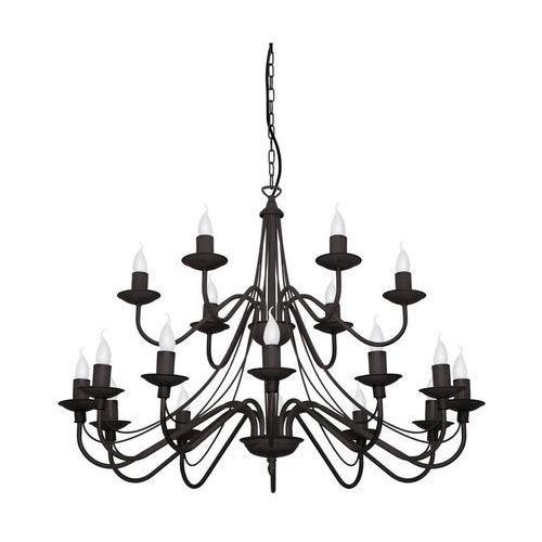 Lampa wisząca klasyczna świecznikowa zwis oprawa róża 18x40w e14 czarna 397s1 marki Aldex
