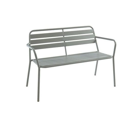 Vente-unique Ławka ogrodowa mirmande z metalu – kolor szary