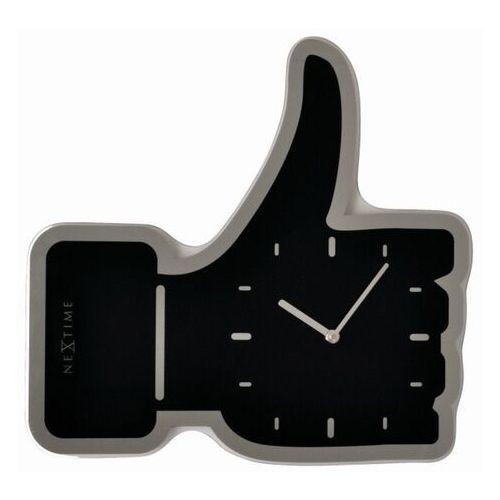 Zegar ścienny Nextime Thumbs Up czarny (3072 ZW), kolor czarny