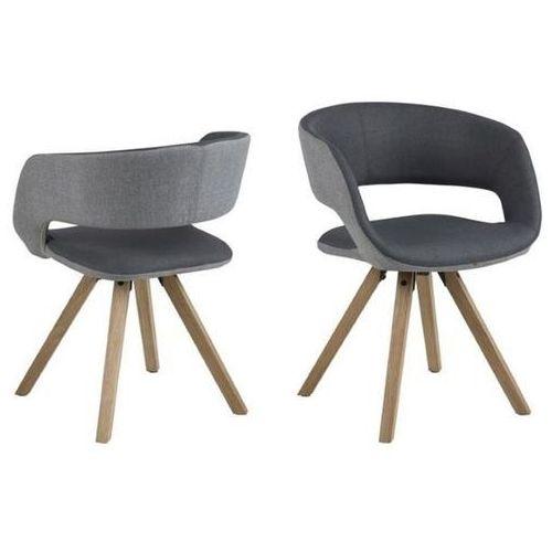 Krzesło Grace cross - szary ciemny ||szary jasny, kolor szary