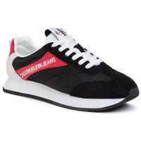 Calvin klein Sneakersy jeans - jerrold s0615 black/racing red