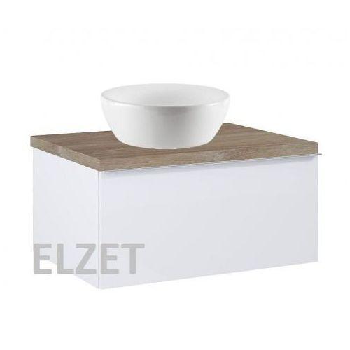szafka look 1s white pod umywalkę nablatową + blat 60 dąb classic 167075+166897 marki Elita